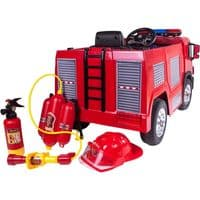 12V Children's Ride On Fire Engine with Accessories
